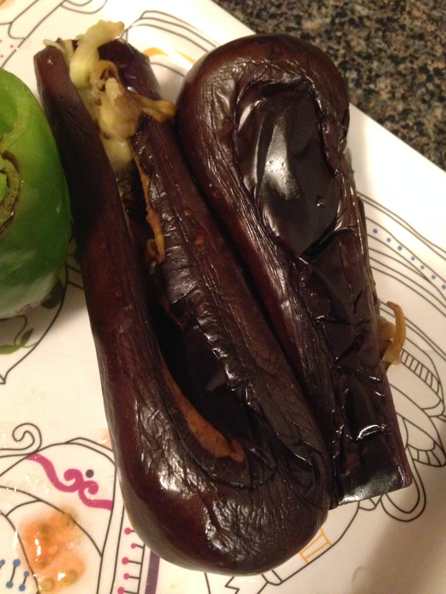 The eggplants are ready to go